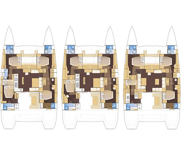 Lagoon 560 layout