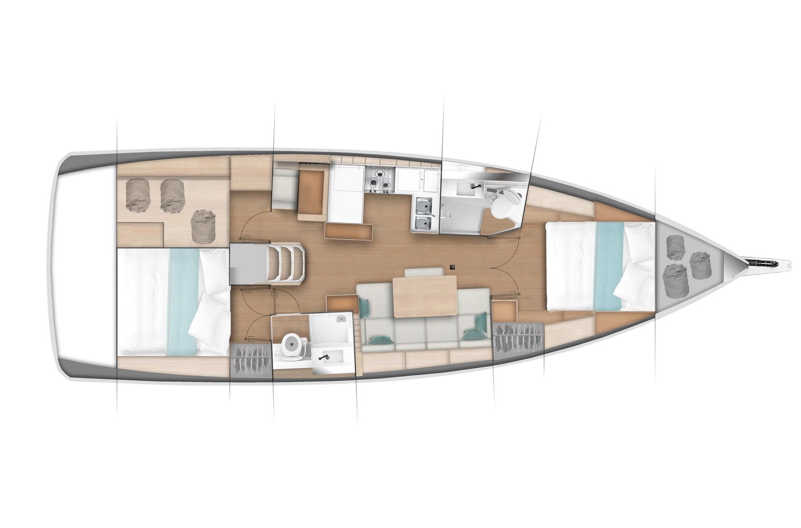 Jeanneau Sun Odyssey 440 - Yacht Sales | Kiriacoulis